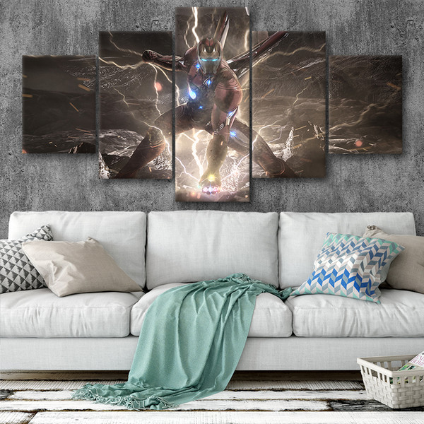 Canvas Posters Home Decor Wall Art Framework 5 Pieces Avengers Iron Man Paintings For Living Room HD Prints Modern Movie Pictures