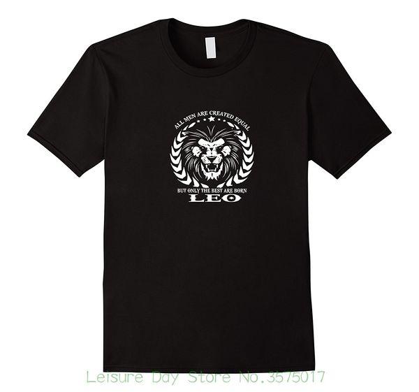 Новейшая мужская футболка 2018 года с футболкой-гороскопом Leo