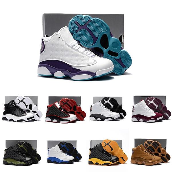 Großhandel Nike Air Jordan 13 Retro Mix Cute Silikon Basketball Mode Schuhe J13 Komfortable Hochwertige Sneaker Für Jungen Und Mädchen
