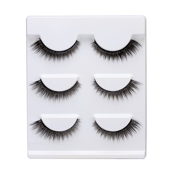 High grade grind pointy false eyelash 10 pairs install natural pure manual eye end to pull long eyelash