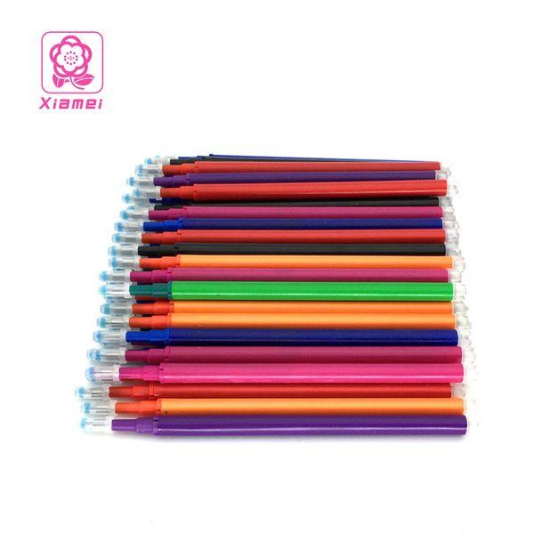 Xiamei 10pcs 0.5mm plástico borrable pluma de gel de recarga de marcadores borrables 8 colores Cancillería escritorio de la escritura de gel pluma de tinta recargas