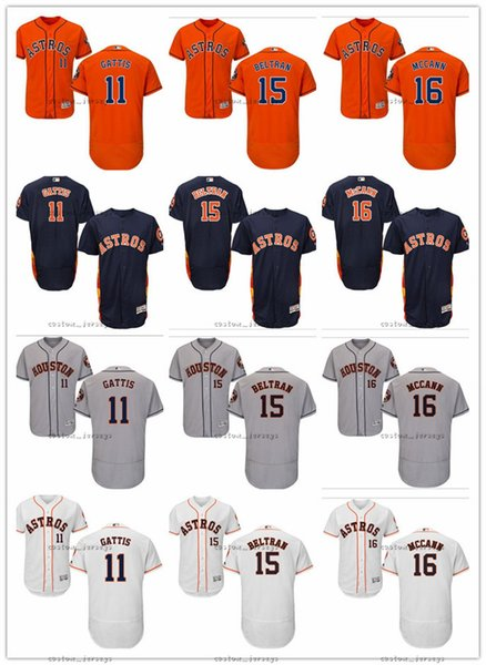 custom Men Women Youth Astros Jersey #11 Evan Gattis 15 Jason Castro 15 Carlos Beltran 16 Brian McCann Red white Kids Baseball Jerseys