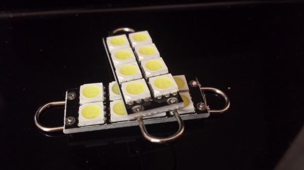 44mm Xenon-Weiß 8SMD 5050 führte Birnen der steifen Schleifen-Girlanden-LED 211-2 212-2 214-2 578 für Tür-Stamm-Lichter Freies Verschiffen
