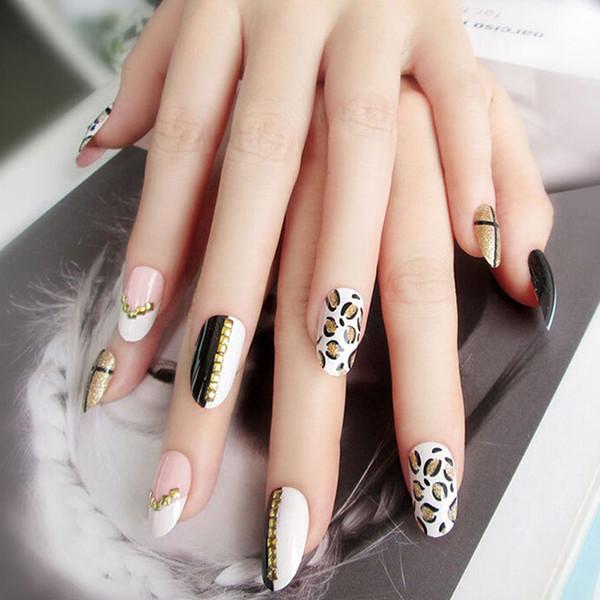 Hot Leopard Pattern Fake Nails Art Tips Acrylic Nail False Full Cover  Manicure Fashion Decor For Girls Plain False Nails False Nails Online From