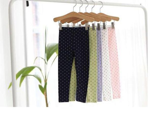 Polka Dot Princess Pants Kids Trouser Cotton Trousers Girls Tights Long Trousers Children Leggings Child Wear Casual Pants