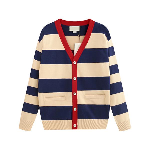 Дизайнерский женский свитер-джемпер класса люкс 2019 года Новая осень-зима-люкс Новая леди-джемпер в полоску по контракту Размер свитера от S до 2XL