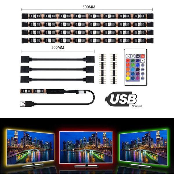 Bande Flexible Lumineux LED USB Bandes de Lumière de 5V Ruban de LED 5050 RVB