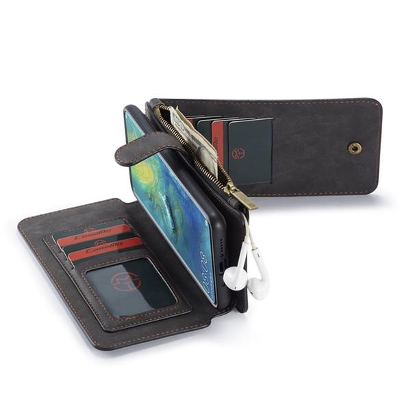 Echte Ledertasche für HUAWEI mate 20 Pro P20 Kartenhalter für Samsung S9 plus Hinweis 9 iPhone Xr Xs max