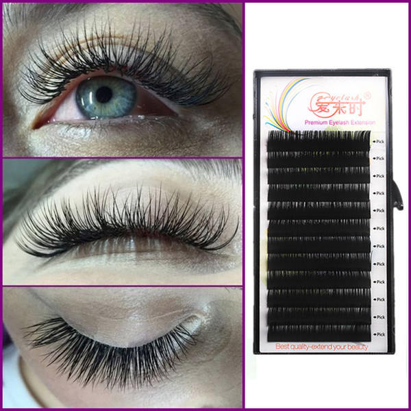 Silk Eyelash Bcd Curl Individual False Eyelash Extension Thick Fake Eye Lashes Extension Makeup Tools