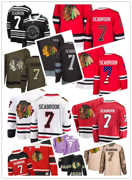 Chicago Blackhawks jerseys #7 Brent Seabrook Jersey ice hockey men women youth black white red winter classic Stiched Fanatics Jerseys