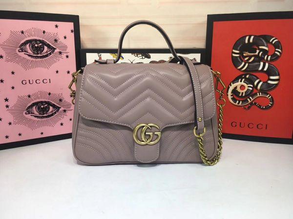 2018 homens e mulheres capazes G saco, couro, alta qualidade, único s1, saco fashionhoulder, bolsa de ombro duplo, bolsa, modelo. 498110 tamanho 26,5..20..9cm