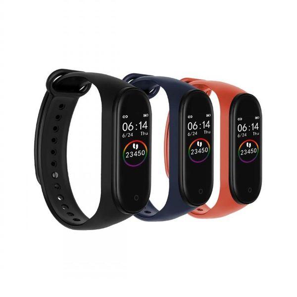Plus récent m4 intelligent Wristband Fréquence cardiaque tactile Cadeau sommeil Moniteur Fitness Tracker Bluetooth Bracelet Podomètre montre de sport pour ios Android