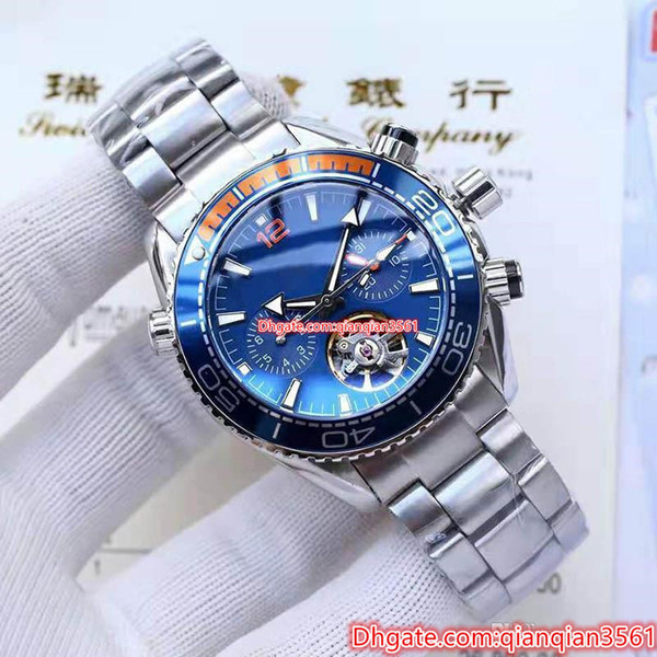 Top Quality Luxury Mens Watches Tourbillon Automatic Mechanical Movement Professional 600m Bond 007 Male Clock Men S Business Casual