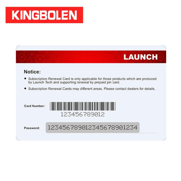 LAUNCH Pin Card 1 year Renewal for Gasoline x431 1 year free update online Diagun 3/X-431 V/V+/Pro mini/PRO/PAD II etc
