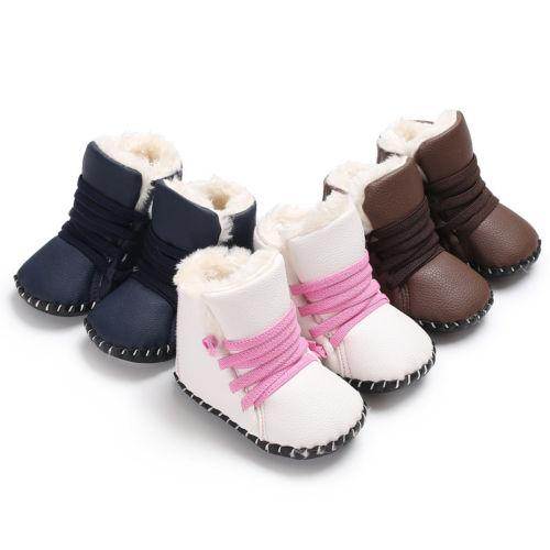 New Baby Girl Boy Snow Boots Winter Boots Infant Kids New Soft Bottom Shoes Size 0-18M