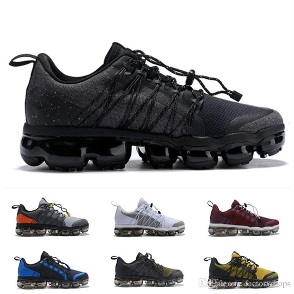 2019 cushion Run Utility Mens Trainers Brand Knit cushlon Designer Sneakers Chaussures black white gery Zapatos Size 40-45