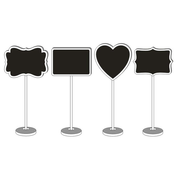 best selling Heart Shape Wooden Mini Blackboard Chalkboard Mini Blackboard Writable Erasable Message Table Number Wedding Desk Name Stand
