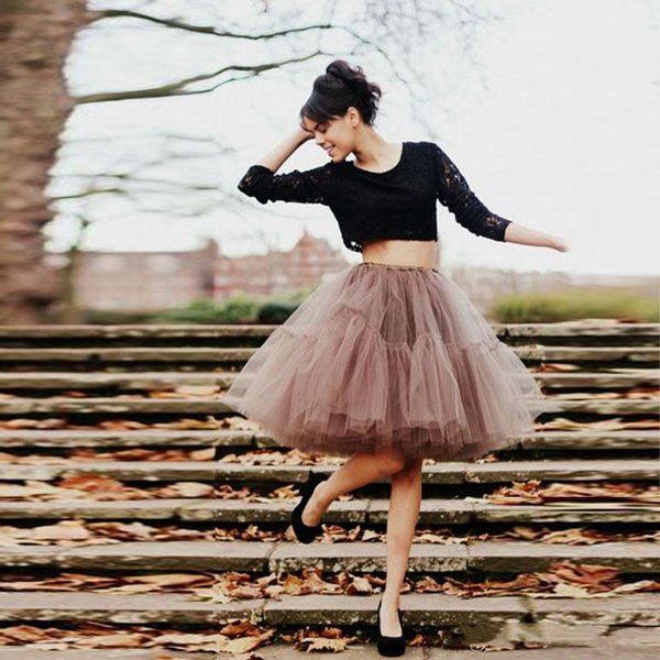 Classic Short Tutu Tulle Ball Gown Prom Party Dresses Skirt Layers Pleats Puffy Casual Dress Women Girls Skirts Cheap Custom Made Plus Size