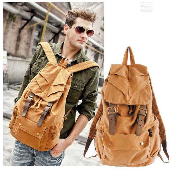 Neue Männer Frauen Vintage Leinwand Rucksack Reisetasche Schultasche 2 Farben Fab Damen Tasche
