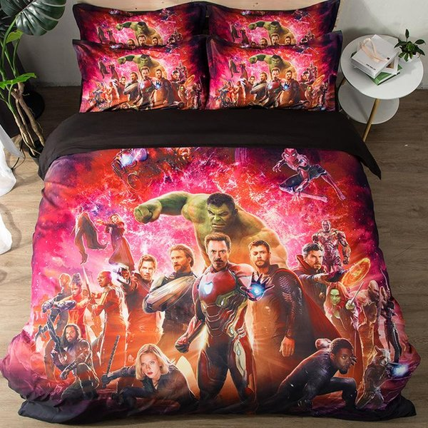 Duvet Cover & Pillowcase Set Bedding 3pcs 3D Anime Quilt Case Bedding Bedroom Design Duvet Cover Bedding Set Hot Selling