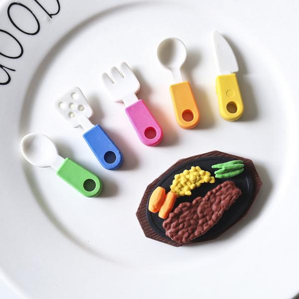 Fantastic Pencil Eraser Cooking Tools Pot Western Food Design School Prizes Kids Toys Children Gift WJ045