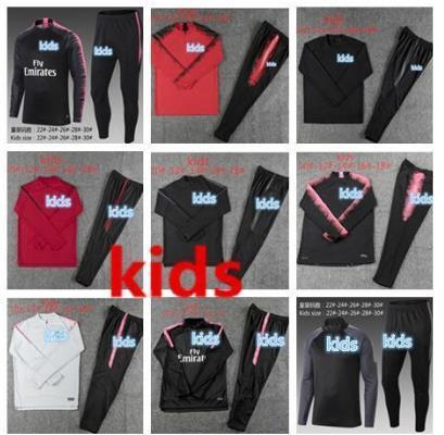 KIDS tracksuit new 2018 2019 LUCAS Training suit KIDS tracksuits 18 19 LUCAS maillot de foot KIDS jacket training suit