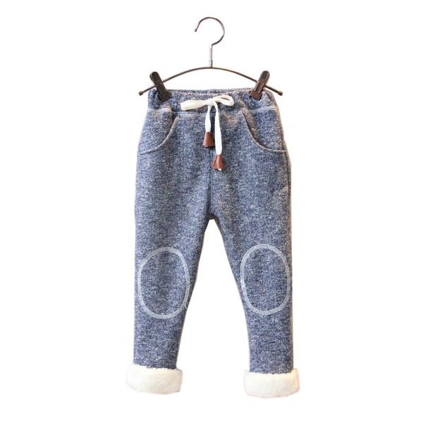 Bibicola winter boys girl pants casual elastic solid pants kids sport clothing bebe thick leggings baby warm christmas pants