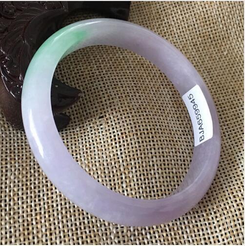 55-64 мм сертифицированный (класс A)100% натуральный лаванды жадеит нефрит браслет 55-64 мм (сертификат доставки)