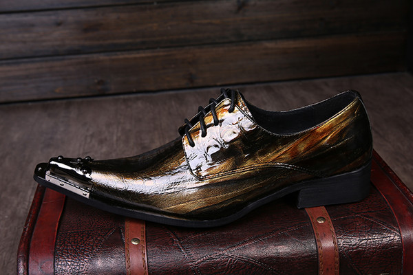 mens pointed toe dress shoes patent genuine leather classical dance shoes oxford for men fashion wedding party