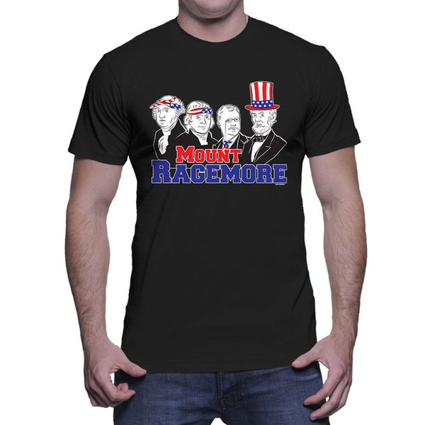 Mount Ragemore - 4th of July USA Americana Presidents Pride Mens T-Shirt Brand shirts jeans Print Classic Quality High t-shirt