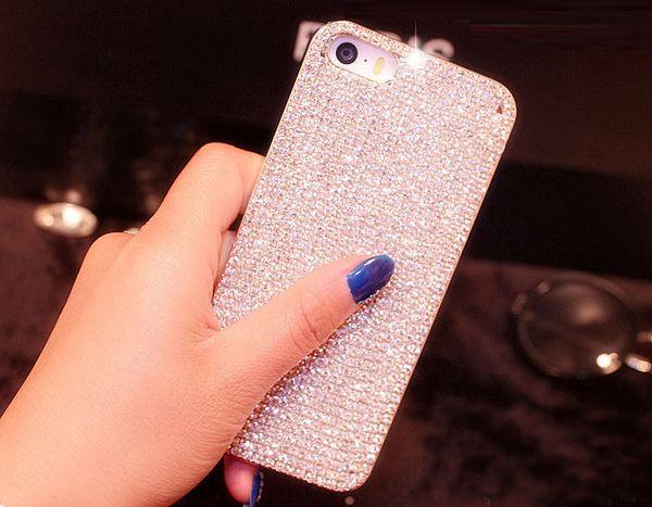 도매 iphone X 8 7 6 플러스 5S 5C 4 삼성 갤럭시 참고 8 5 4 S7 / 6 가장자리 플러스 S5 손수 다이아몬드 블 링 케이스 커버