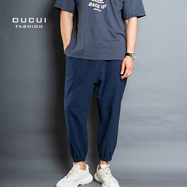 Brand Casual Jogger Pants Slim Straight Men Pant Fitness Trousers Male 2019 Summer Clothes Sports Running OL-CP-RC-9-A-21