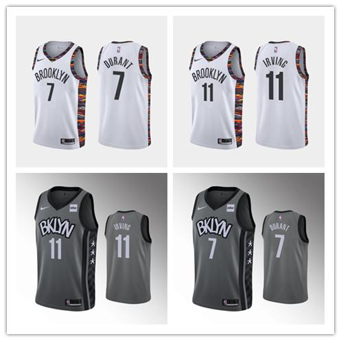 2019 2020 Mens New Cityedition Jersey Nbabasketball Brooklynnets Jersey 11 Kyrieirving Kevin 7 Durant Jersey From Yueliang13 18 08 Dhgate Com