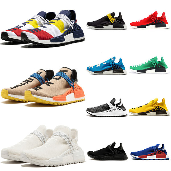 2020 Hu Human Race Mens Tennis Womens Running Shoes Sample Yellow PHARRELL WILLIAMS PW Triple White Black Designer Shoes Breathable Trainers From