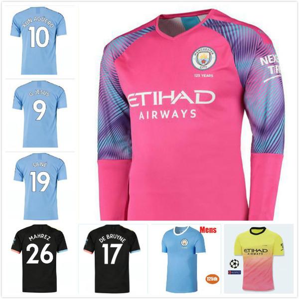 19 20 DE BRUYNE Soccer Jersey CITY goalkeeper 2019 2020 NOLITO KUN AGUERO STERLING GUNDOGAN DE BRUYNE SILVA football shirt