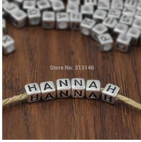 Bulk Wholesale 200pcs Silver Alphabet Letter DIY Loose Spacer Beads for Handmade Beading Bracelet Necklace Jewelry Making Craft