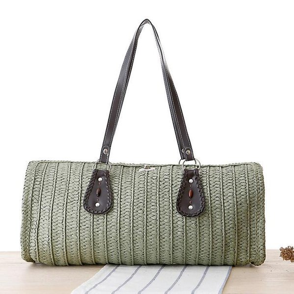 Factory wholesale brand new summer fashion hand woven bag bag simple rope seven shares on summer vacation leisure bags woven beach bag