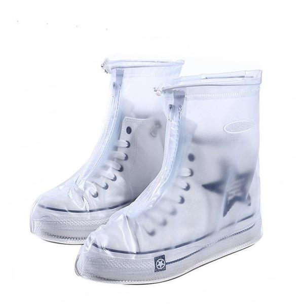 Güzel Kullanımlık Su Geçirmez Galoş Galoş Koruyucu Ayakkabı Erkek kadın Çocuk Yağmur Kapağı Ayakkabı Ayakkabı Aksesuarları Için Fermuarlı Yağmur Geçirmez