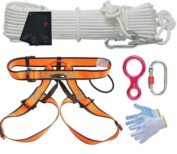 15--30M 11.66KN 1100KG anten çalışma sigorta önleyici yangın Açık emniyet kemeri dağcılık kaya tırmanışı kablo tesisatı tel halat