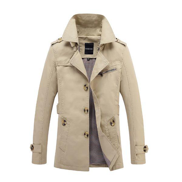 Marka 2019 Erkek Palto Uzun Ceket Kaban Erkekler erkek Trençkot Trençkot Masculina Rüzgarlık Dış Giyim Pamuklu Kumaş 5XL T190830