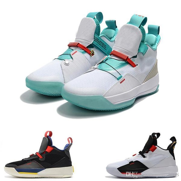 2019 new Zoom 33 33s Jump man White Green black men Sports Basketball Shoes for Mens Designer sneaker Trainers size 7-12 free shipping