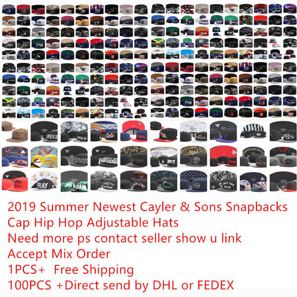 Snapback Şapka Kap Cayler Sons Snapbacks ekipleri Beyzbol rahat Kapaklar Şapka Ayarlanabilir kapaklar 2019 hiphop caps En Kalite Ücretsiz Kargo