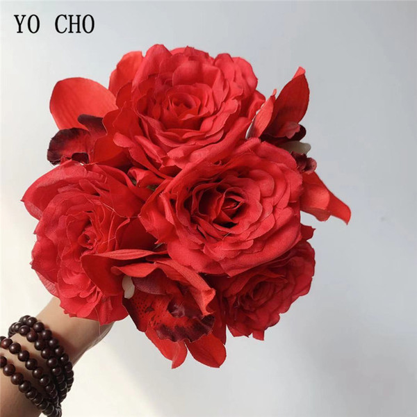 2019 Yo Cho Silk Rose Orchid Artificial Flowers For Home