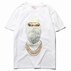 Männer Designer T-Shirt Luxusmarken Kleidung Mode Perle Porträt Kurzarm Druck Top Street Style Hip Hop Tops