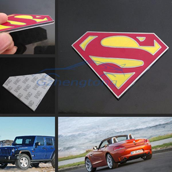Gzhengtong 2017 cool car sticker 3D Superman logo Symbol Metal Alloy Emblem Badge Stickers Decal for auto motor