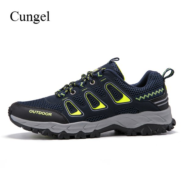 Mens Plus Size Non Slip Hiking Trekking Shoes Lace Up Outdoor Trainers Size 5-13