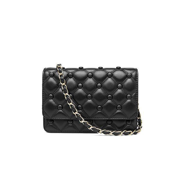 2019 nuove borse crossbody delle donne di modo borse a tracolla in vera pelle ragazze designer borse a tracolla borsa (nero rosso rosa)