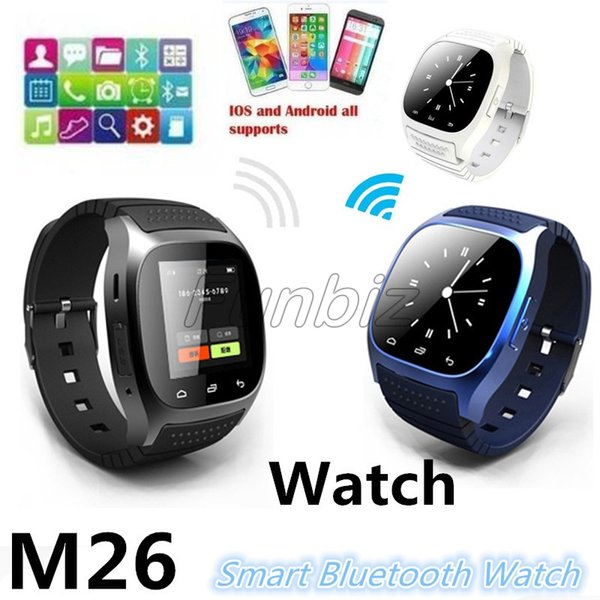2019 New M26 Smart Watch Wireless Bluetooth Wearable Sync Phone Calls With Altimeter For iPhone Samsung HTC Android Phone Anti-lost Alert