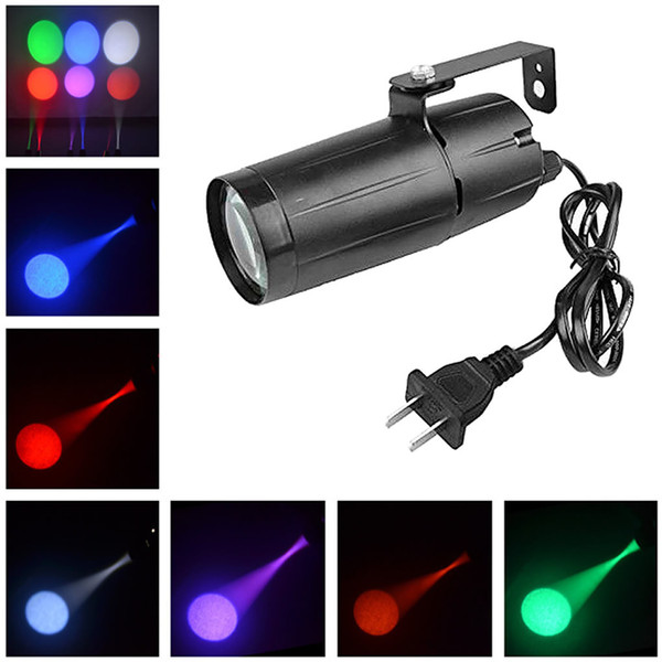 AUCD Mini 3W Single Color LED Track Light Store Art Decor Proyector Focos Beam Lamp Home Party DJ Show Stage Lighting LE-M02