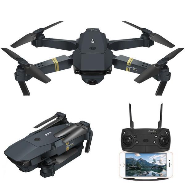 Drone professionale FPV mini Eachine E58 WIFI globale con videocamera HD grandangolare Luce a LED ad alta tenuta Braccio pieghevole RC Quadcopter professionale Drone